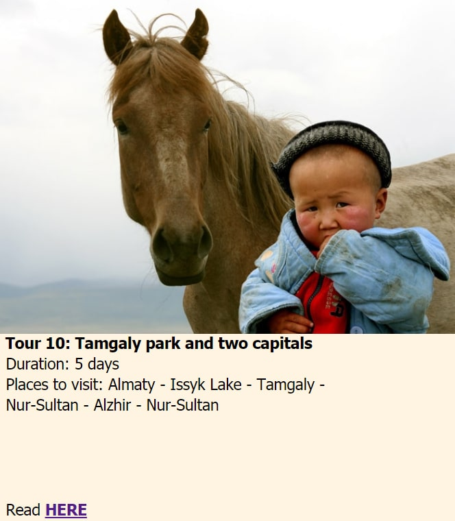 Tamgaly park and two capitals